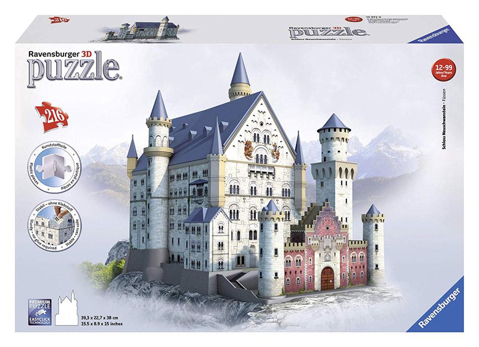 Castillo Neuschwanstein puzzle 3d r
