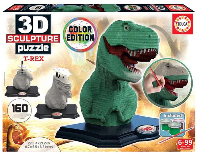 T-Rex puzzle 3d sculpture