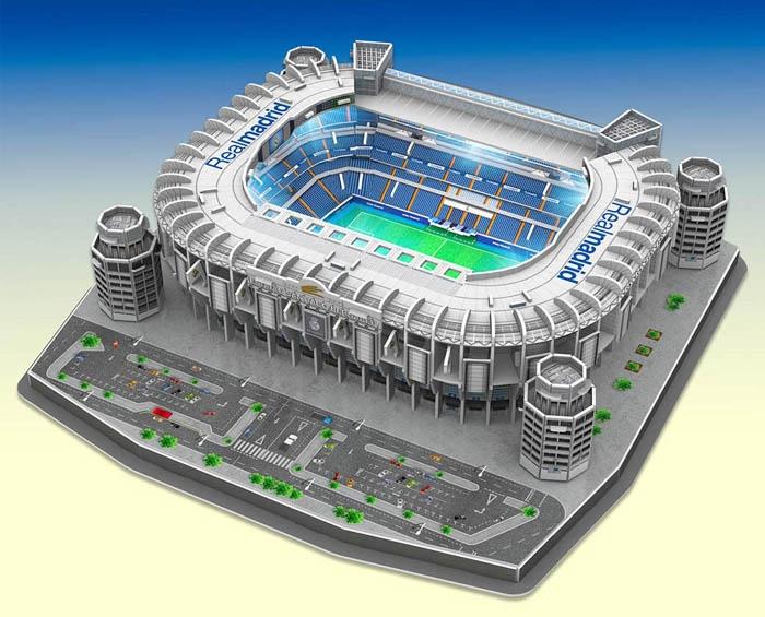 Santiago Bernabéu Led Edition El Mejor Puzzle 3d Del Real Madrid