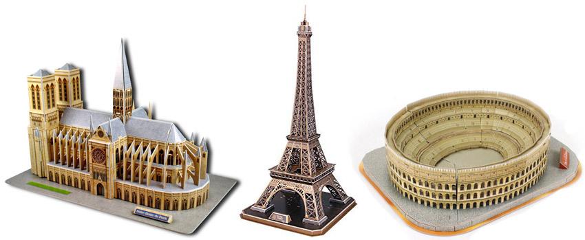 puzzles 3d monumentos