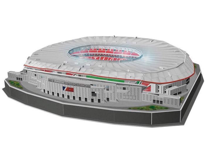 puzzle 3d estadio atletico de madrid con luz