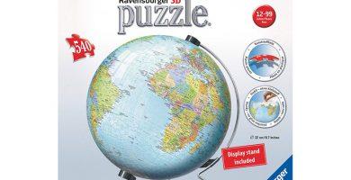 puzzle 3d bola del mundo Ravensburger 540 piezas