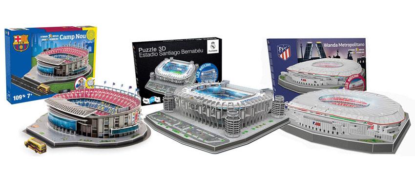 puzzles 3d estadios futbol