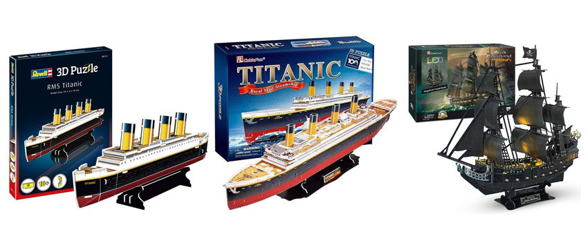 puzzles 3d barcos