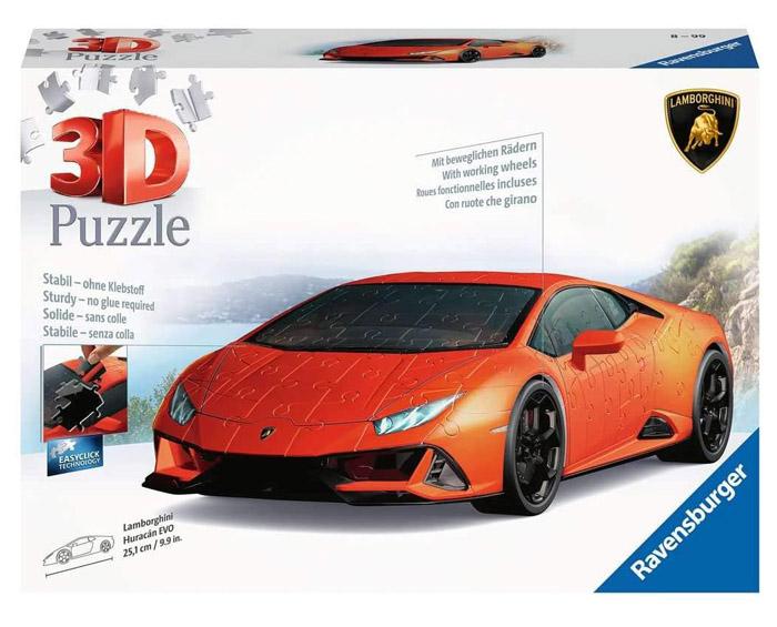 puzzle 3d coche lamborghini